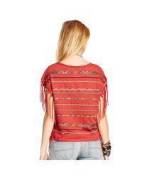 Denim & Supply Ralph Lauren - Red Fringed Short-sleeved Tee - Lyst