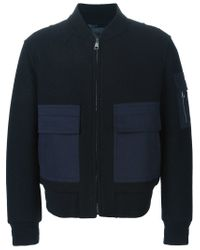 Neil Barrett - Blue Jersey Bomber Jacket for Men - Lyst