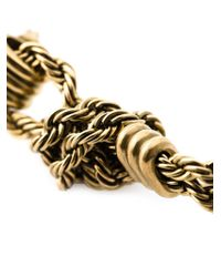 Lanvin - Metallic Braided Earrings - Lyst