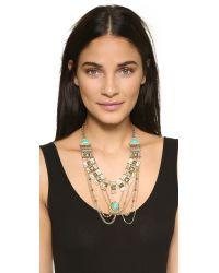 Adia Kibur - Metallic Victoria Necklace - Gold/turquoise - Lyst