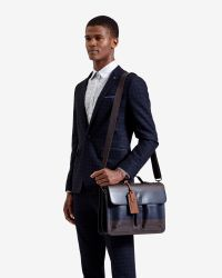 Ted Baker | Brown Striped Leather Satchel for Men | Lyst