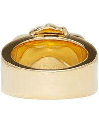 Versace | Metallic Gold Medusa Ring | Lyst
