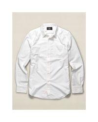 RRL | White Cotton Oxford Shirt for Men | Lyst