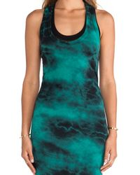 Enza Costa Multicolor Ionic Wash Bold Doubled Tank Dress