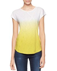 Calvin Klein Jeans | Yellow Textured Crewneck Top | Lyst