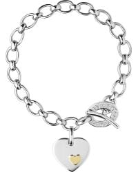 Links of London | Metallic Heart Sterling Silver Charm Bracelet | Lyst