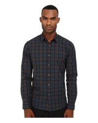 Theory | Blue Zack.winterton Button Up for Men | Lyst