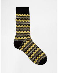 ASOS | Multicolor Socks 5 Pack With Stripe Zig Zag Design for Men | Lyst