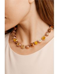 Eddie Borgo - Pink Collage Collar Rose Gold-plated Multi-stone Necklace - Lyst