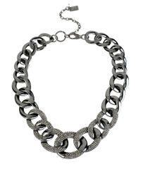 Kenneth Cole | Black Pave Link Necklace | Lyst