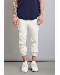 Forever 21 - White Reason Zip Pocket Joggers for Men - Lyst