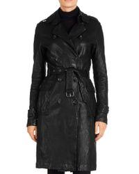 J Brand Black Amely Trench Coat