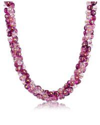 Antica Murrina Purple Rubik Murano Glass Drops Necklace
