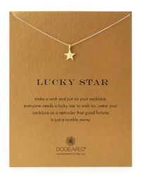 Dogeared | Metallic Gold-Dipped Lucky Star Necklace | Lyst