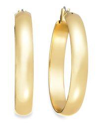 Charter Club - Metallic Gold-tone Hoop Earrings - Lyst
