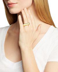 Diane von Furstenberg Metallic Geo Ring