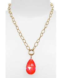 Dabby Reid | Orange 'elizabeth' Stone Pendant Necklace | Lyst