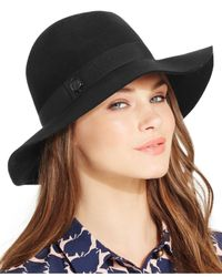 Vince Camuto | Black Mini Studded Panama Hat | Lyst