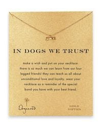 Dogeared | Metallic In Dogs We Trust Dog Bone Pendant Necklace | Lyst