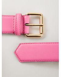 Moschino Natural Logo Plaque Belt