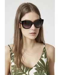 TOPSHOP | Black Catty Portugal Oversized Sunglasses | Lyst