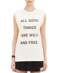 6397 - White All Good Things Are Wild Free Graphicprint Tshirt - Lyst