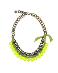 Lanvin | Yellow Beaded Chainlink Necklace | Lyst