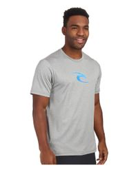 Rip Curl - Gray Corp Short Sleeve Surf Shirt for Men - Lyst