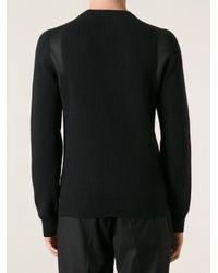 Lanvin - Black Panel Detail Sweater for Men - Lyst