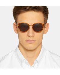 Saint Laurent | Brown Sl57 Round-Frame Tortoiseshell Acetate Sunglasses for Men | Lyst