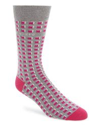 Ted Baker | Pink Geometric Pattern Socks for Men | Lyst