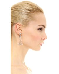 Ben-Amun - Metallic Imitation Pearl Tassel Earrings - Lyst