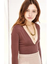 Urban Outfitters | Metallic Three Wishes Layering Chain Necklace | Lyst