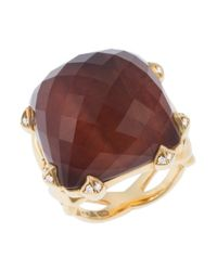 Stephen Webster | Brown Women's 18k Yellow Gold Crystal Ring | Lyst