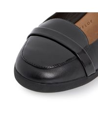 Fitflop | Black F Pop Loafer Leather Loafer | Lyst