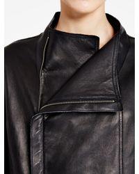 DKNY - Black Pure Bonded Leather Jacket - Lyst
