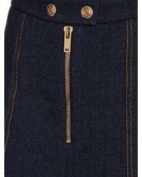 Sonia Rykiel Blue A-line Denim Skirt