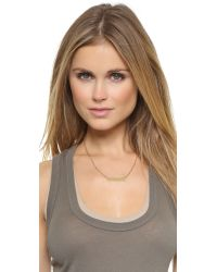 Phyllis + Rosie | Metallic Rocker Bar Necklace - Gold | Lyst