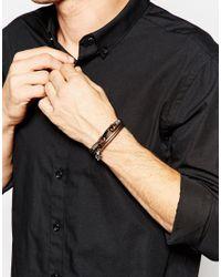 Seven London - Metallic Wraparound Skull Bracelet for Men - Lyst