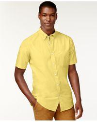 Tommy Hilfiger | Blue Maxwell Short-sleeve Button-down Shirt for Men | Lyst