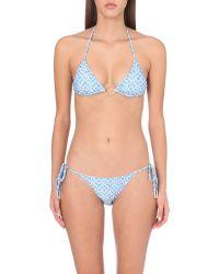 Melissa Odabash | Blue Miami Halterneck Bikini Top | Lyst