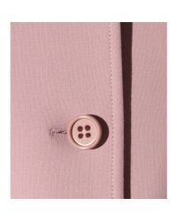 RED Valentino Pink Wool And Cotton-blend Coat