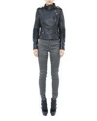 Nicole Miller Black Moto Leather Jacket