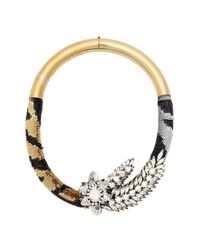Shourouk | Multicolor Tiger Comet Necklace | Lyst