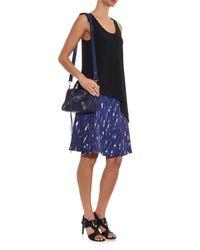 Balenciaga Blue Classic Mini City Edge-Line Cross-Body Bag