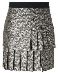 Emanuel Ungaro Black Pleated Skirt