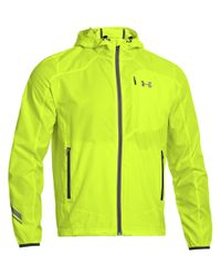 Under Armour | Yellow Imminent Run Hooded Jacket for Men | Lyst