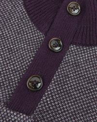 Ted Baker | Purple Stitch Detail Funnel Neck Top for Men | Lyst