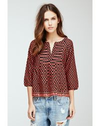 Forever 21 - Pink Floral Print Top - Lyst