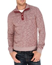 Lucky Brand | Heathered Mockneck Pullover for Men | Lyst